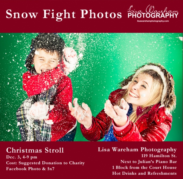 Snow Fight Photo Poster